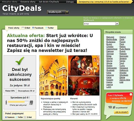Rusza CityDeal.pl – kolejny serwis grupowych zakupów 2