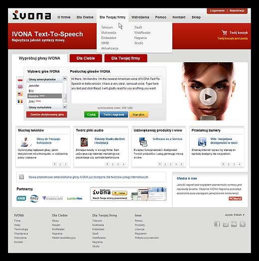 Nowy serwis IVONA.com 1