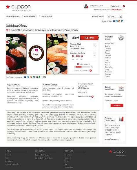 Cuppon.pl – kolejny serwis grupowych zakupów 1