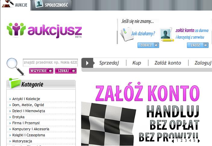 Aukcjusz.pl - nowy gracz na rynku aukcji 1