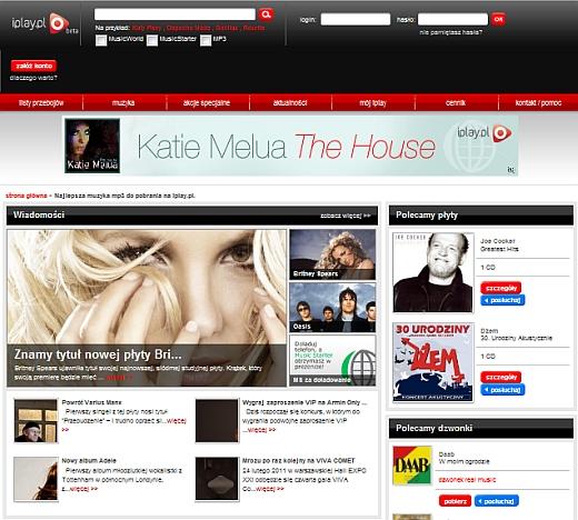 iplay.pl oferuje muzykę z Sony Music Entertainment oraz IODA 1