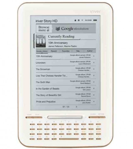 iriver Story HD: pierwszy dedykowany czytnik dla Google eBooks 1