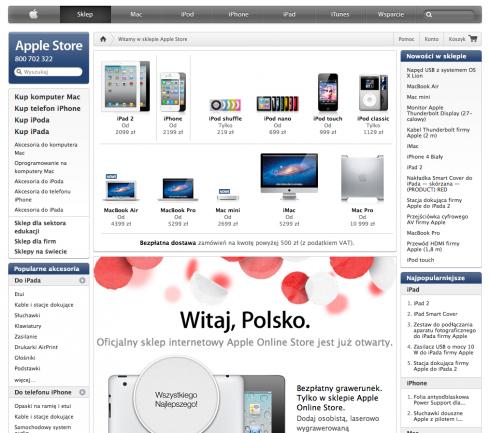 Oficjalny sklep Apple także dla Polaków 2
