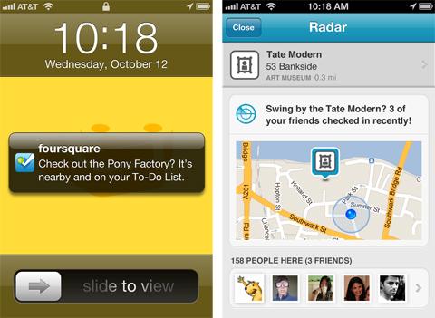 Foursquare wprowadza Radar 1