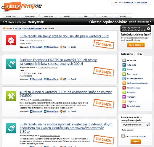 Okazje.Firmy.net – inny sposób na zakupy grupowe 1