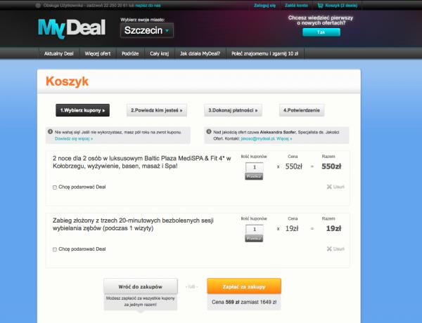 Koszyk zakupów w MyDeal.pl 1