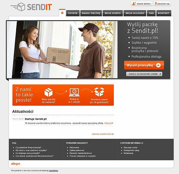 Sendit.pl nowy serwis internetowy Grupy Allegro 1