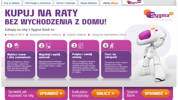 Sygma Bank na wyłączność w Ceneo 1