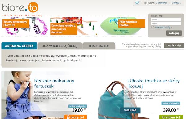 Biore.to – nowy serwis zakupowy od WP.PL 1