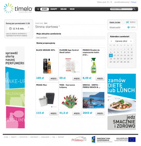 Timelo.pl – wirtualna galeria handlowa 1