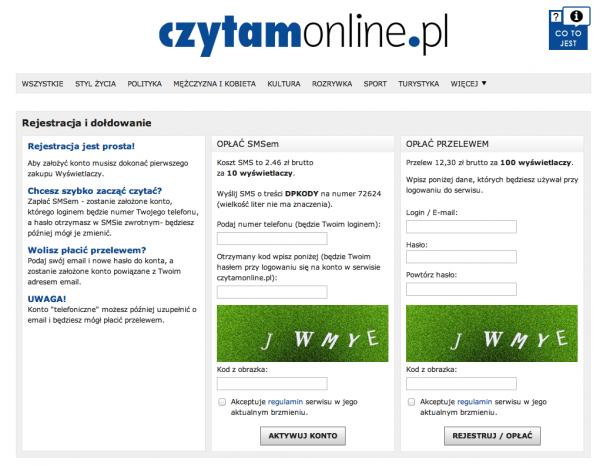 Czytamonline.pl – sprzedaż internetowych treści 2