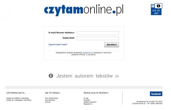 Czytamonline.pl – sprzedaż internetowych treści 1